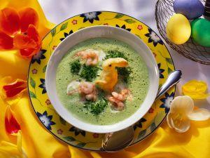 Schaumige Kressesuppe mit Osterhäschen Rezept