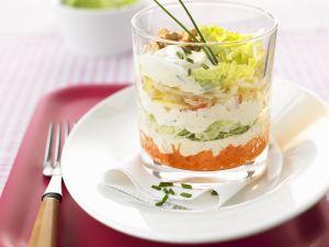 Schichtsalat mit Japankohl Rezept