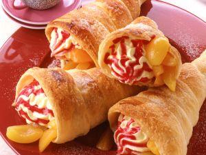 Schillerlocken mit Puddingfüllung und Aprikosen Rezept