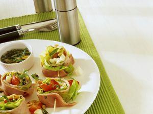 Schinken-Gemüse-Häppchen Rezept