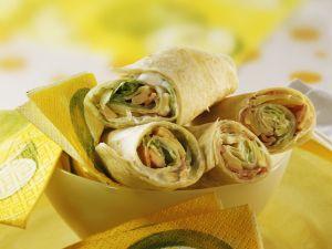 Schinken-Käse-Wraps Rezept