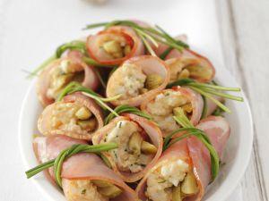 Schinkenröllchen mit Eiersalat gefüllt Rezept