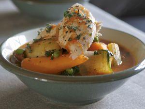Schmor-Hähnchen mit Gemüse Rezept