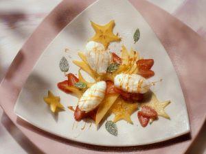 Schnee-Eier mit Früchten Rezept