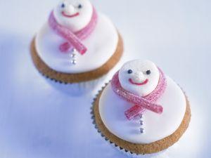 Schneemann-Cupcakes Rezept