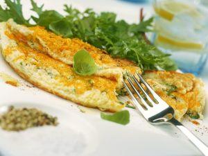 Schnittlauch-Käse-Omelette Rezept