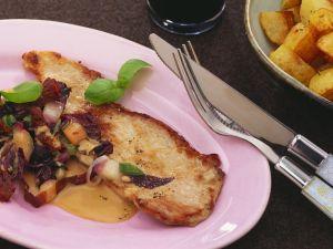 Schnitzel aus Schweinefleisch mit Balsamicocreme Rezept