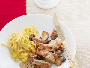 Schnitzel in Pilzrahmsauce Rezept