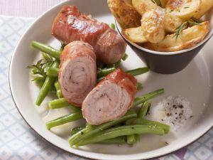 Schnitzelrouladen mit Kartoffel-Wedges Rezept