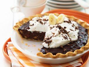 Schoko-Bananen-Kuchen mit Schlagsahne Rezept