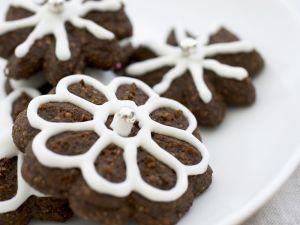 Schoko-Blumen zu Weihnachten Rezept