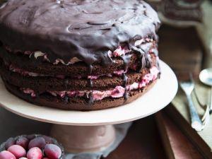 Schoko-Cranberry-Torte Rezept