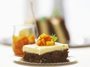 Schoko-Kaffee-Kuchen mit Vanillecreme Rezept