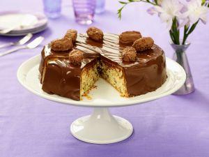 Schoko-Nuss Torte mit Trüffelpralinen Rezept