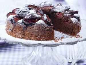 Schoko-Zwetschgen-Kuchen Rezept