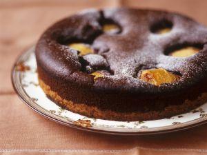 Schokoladenkuchen mit Birnen Rezept