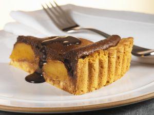 Schokoladentarte mit Pfirsich Rezept