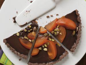 Schokoladentarte mit Sharonfrucht Rezept