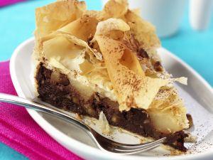 Schokoladenkuchen mit Birne Rezept