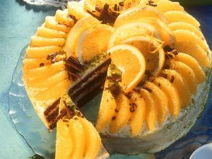 Schokoladentorte mit Orangen Rezept
