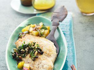 Scholle mit Kartoffel-Zucchini-Gemüse und Gremolata Rezept