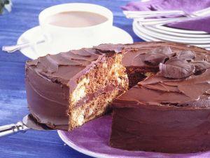 Schwarz-Weiß-Kuchen mit Orange Rezept