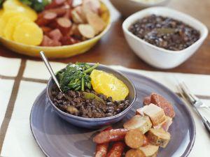 Schwarzer-Bohnen-Eintopf auf brasilianische Art Rezept
