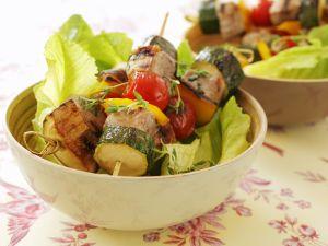 Schweinefilet-Gemüse-Spieße Rezept