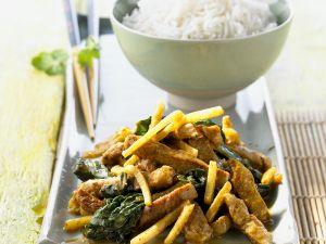 Schweinefilet mit Gemüse aus dem Wok Rezept