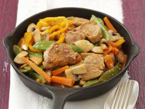 Schweinefilet-Pfanne mit Gemüse Rezept