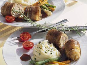 Schweinerouladen mit Gemüse Rezept