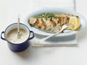 Seebarsch mit Kartoffelhaube Rezept