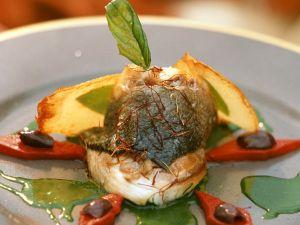 Seebarsch mit Petersiliensauce und Paprika Rezept