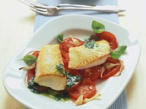 Seelachs mit Tomaten Rezept