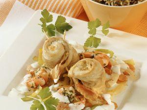 Seelachsröllchen aus dem Römertopf Rezept
