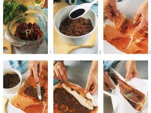 Seeteufel mit Pesto-Schinkenmantel Rezept