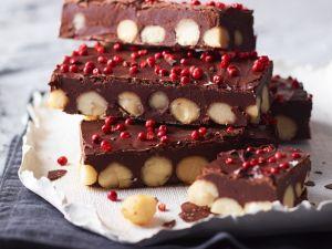 Selbstgemachte Macadamia-Schokolade Rezept