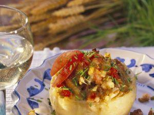 Sellerie mit Grünkern-Tomaten-Füllung Rezept