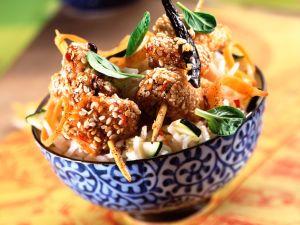 Sesam-Hühnchen am Spieß Rezept