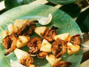 Shrimps-Ananasspieße Rezept