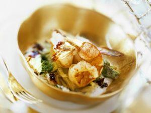 Shrimps auf Wirsinggemüse Rezept