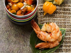 Shrimps mit fruchtiger Salsa Rezept