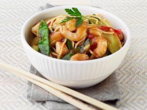 Shrimps-Nudeln süßsauer Rezept