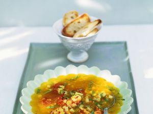 Shrimps-Suppe mit Artischocken Rezept