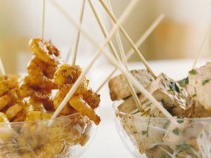 Shrimps- und Tofuspieße Rezept