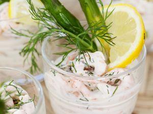 Shrimpscocktail mit grünem Spargel Rezept