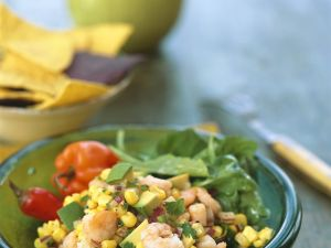 Shrimpssalat mit Gemüse Rezept