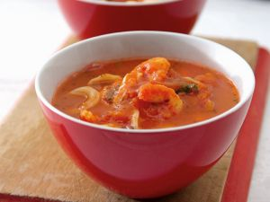 Shrimpssuppe mit Nudeln Rezept