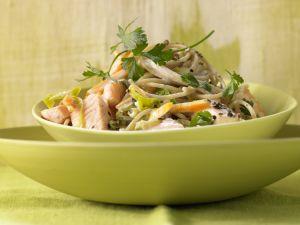 Spaghetti mit Lachs Rezept