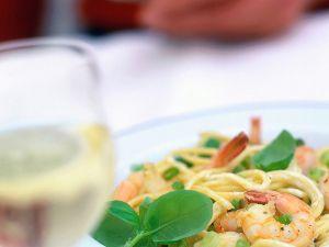 Spaghetti mit Garnelen und Zitronensauce Rezept